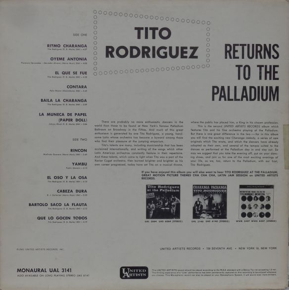 TitoRodriguez)LivePalladiumBack