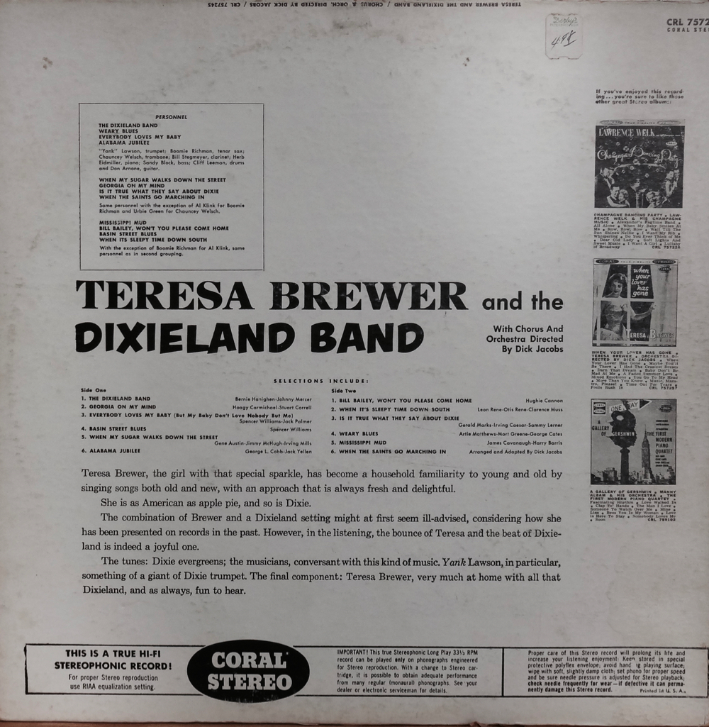 TeresaBrewer_DixielandBandB