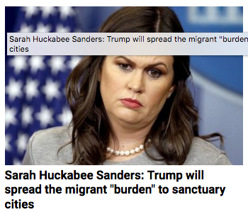 Huckabee Sanders_Migrants