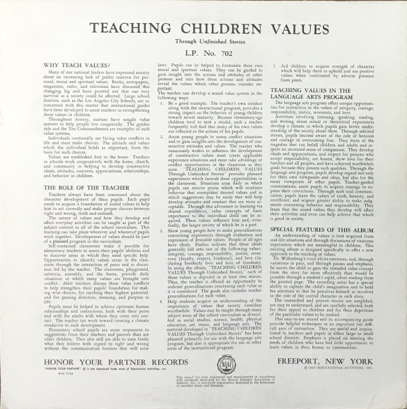 TeachingChildrenValuesBack