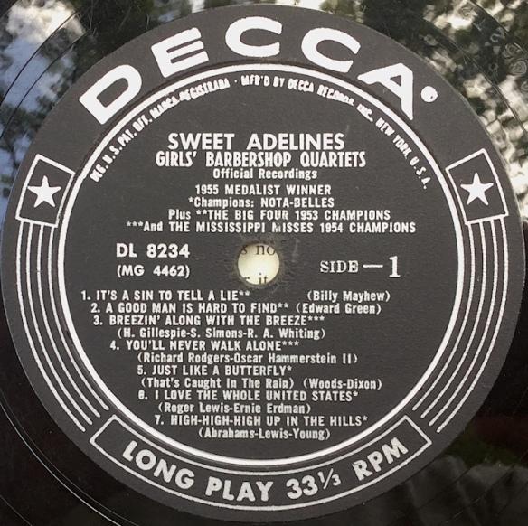 SweetAdelines_1955Side1