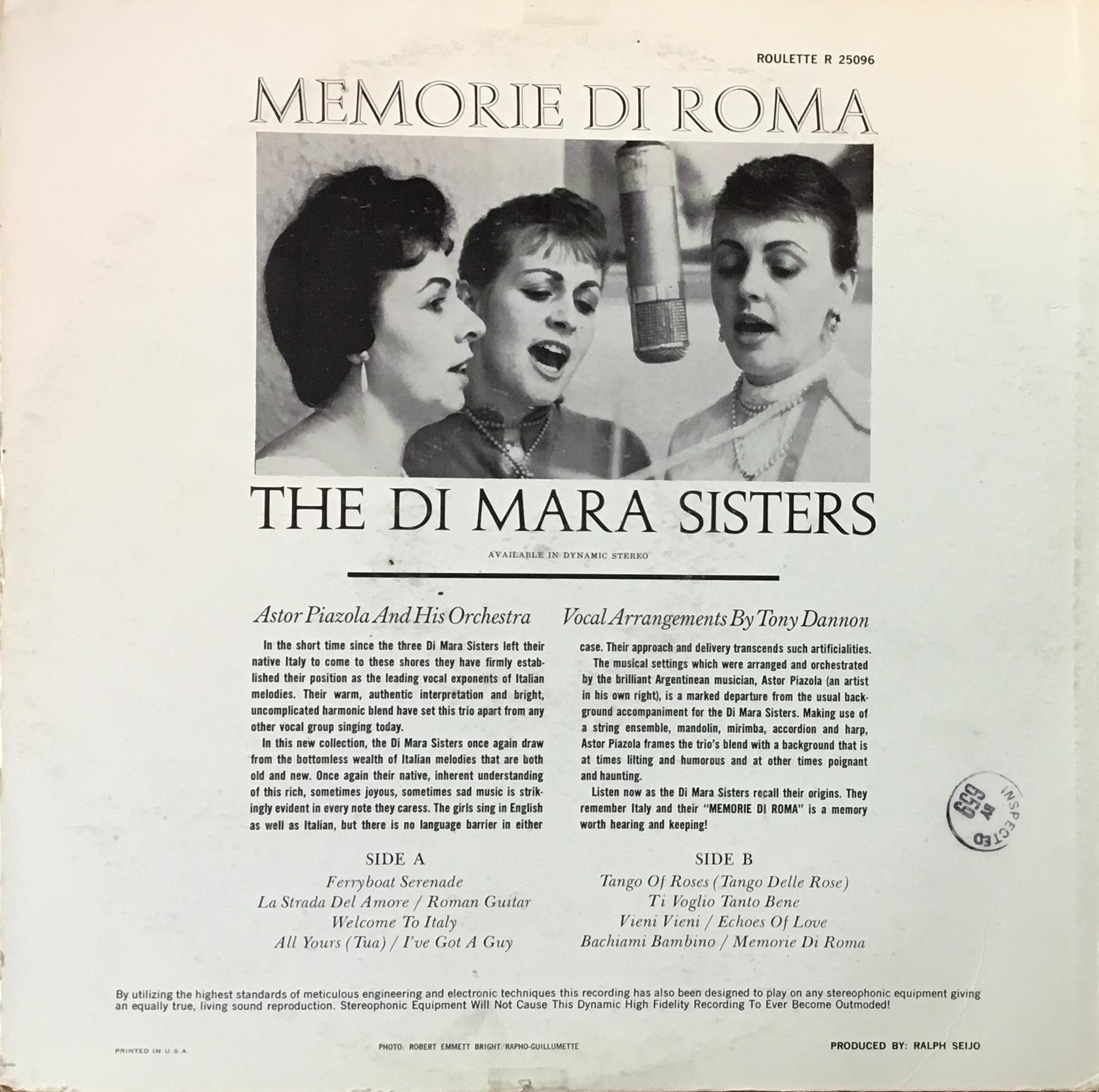 DiMaraSisters_MemorieRomaBack